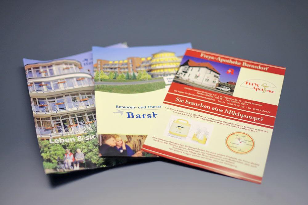 Druckerei Bernsdorf Druckprodukte Flyer Faltblätter